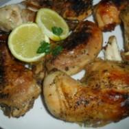 Pollo al horno con limón y páprika