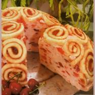 Torta espumosa de Amareto y cerezas