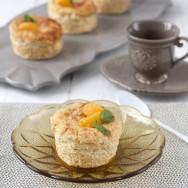 Pastelitos de queso y mandarina