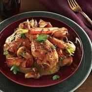 Pollo con salsa de Mantequilla y Champaña