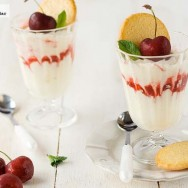 Syllabub de cerezas