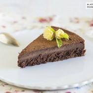 Tarta mágica de chocolate