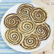 Tortitas americanas en espiral